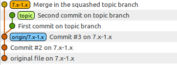 git merge --squash topic
